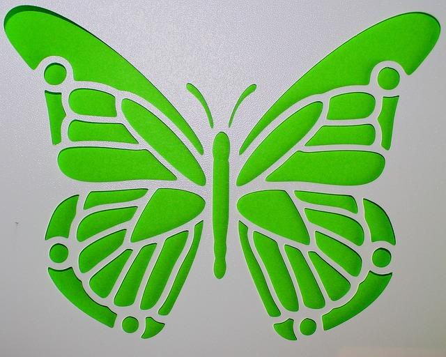 Free photo butterfly template green mural free image on pixabay 490086 - Schablone wandmalerei ...