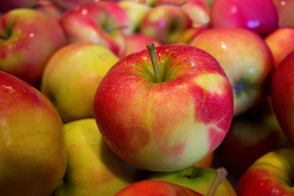 リンゴ, 軟, 健康, 食品, ビタミン, 熟した, 多く, 果物
