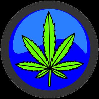 Cannabis Marijuana Leaf Symbol Icon D