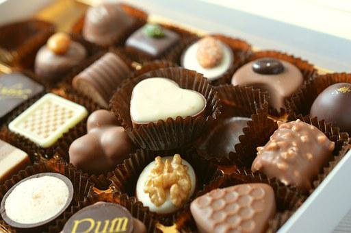 Chocolates, Food, Candy, Calories,124 Free images of Chocolate Day Related Images: Chocolate Love Heart  Valentine's Day  Candy  Hot Chocolate  Romantic  Romance  Valentine  Sweet