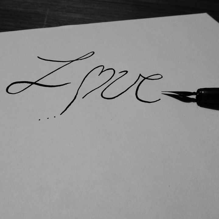 love letters heart love letter love you ink