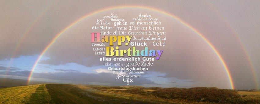 Birthday, Rainbow, Greeting