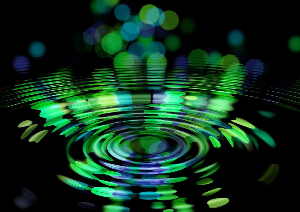 抽象的な, 波, サークル, 瞑想, 反射, 中間, センター, 超越, 超越的な, ジャイナ教