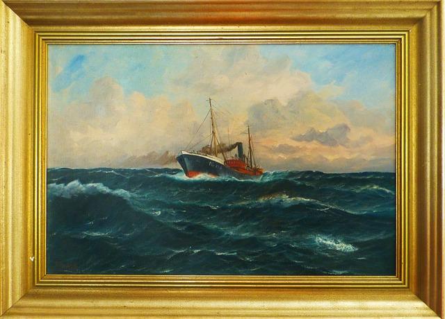 Oil Painting Image Frame Fishing · Free photo on Pixabay