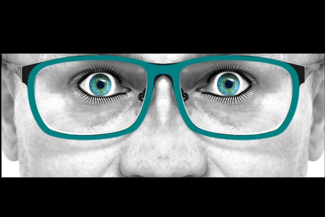 смешные очки рисунок классика
