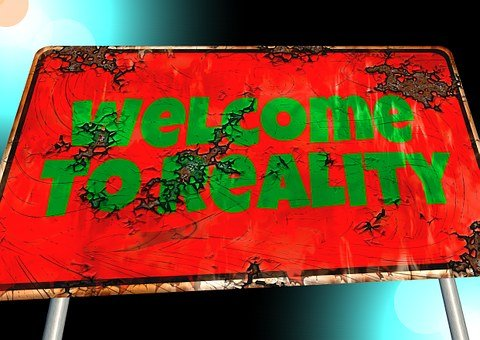 welcome to reality sign