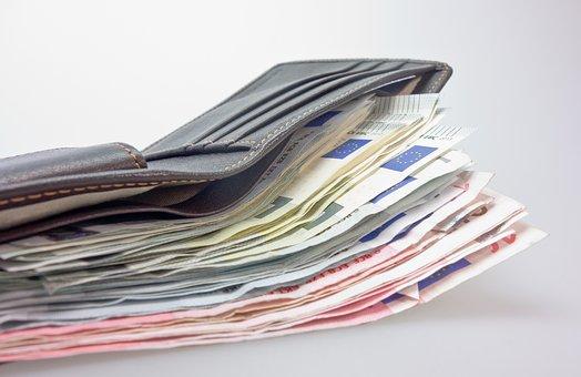 Geld, Portemonnee, Bankbiljet, Euro
