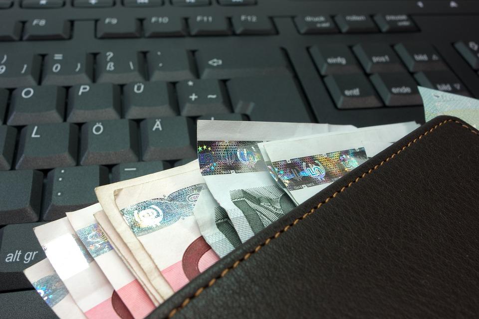 Пари, Чантата, Geldscheine, Евро, Кожа, Портфейла