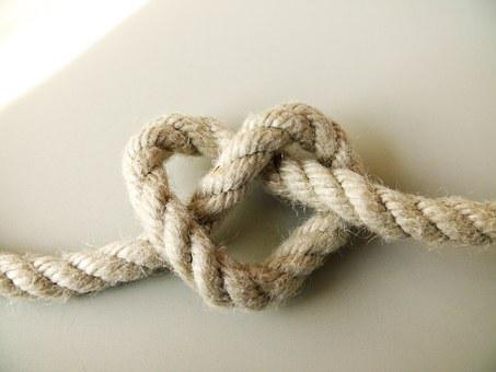 Rope, Heart, Love, Symbol, Knot, Rope