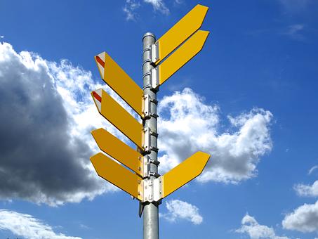 Répertoire, Panneaux, Sentier, Direction