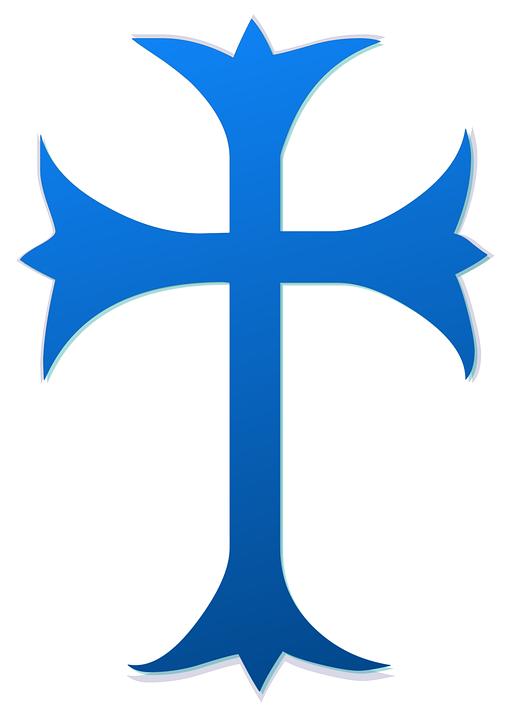 Cross Blue Religious Free Image On Pixabay
