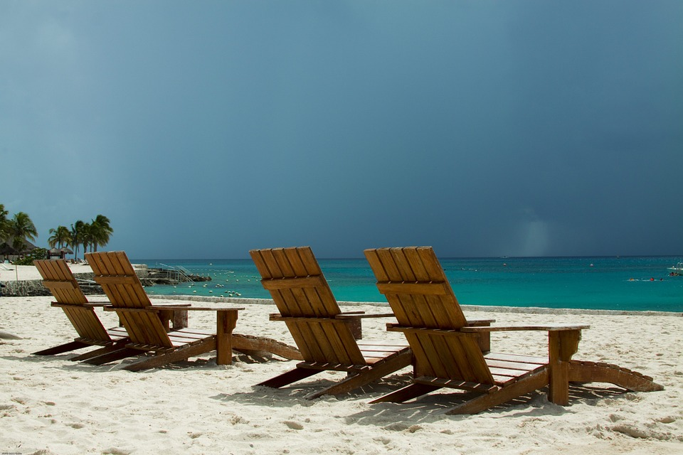 beach chairs storm free photo on pixabay