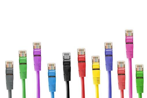 Cabos de rede, conector de rede, cabo