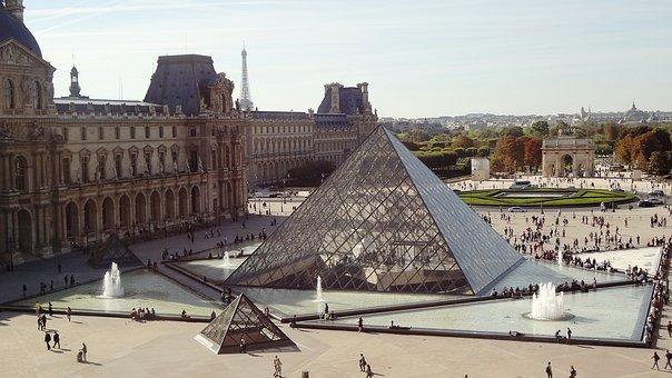 Pyramid, Louvre, Paris, Louvre, Louvre