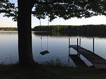 swing, lake, nature