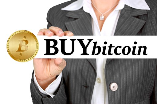 Bitcoin, Coin, Money, Businesswoman