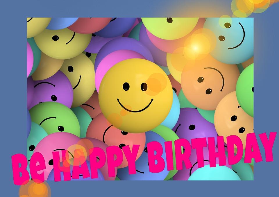 Geburtstag Smilie Gesichter Kostenloses Bild Auf Pixabay