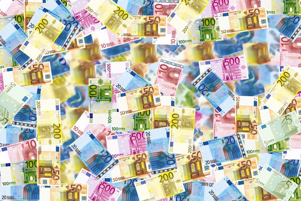 Money, Cash, Bills, Currency, Bank Notes, Euro, Wealth