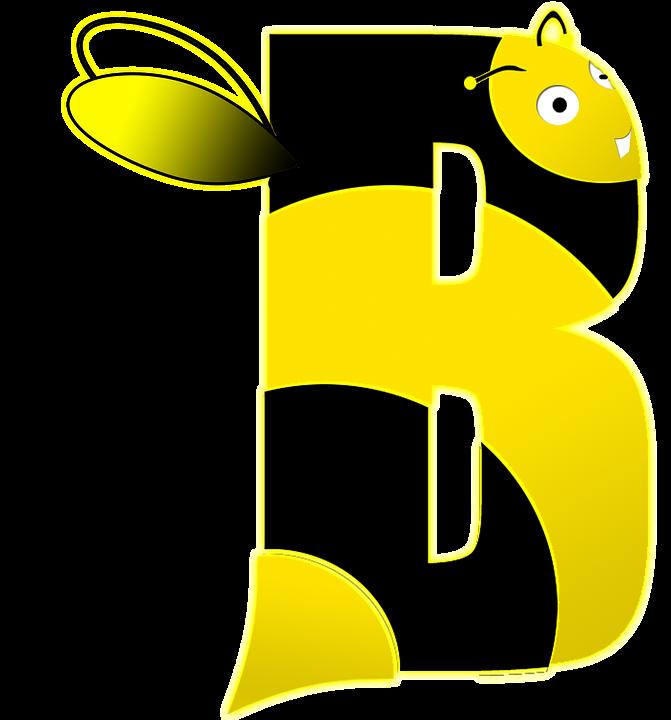 Free illustration Bee Letter B Alphabet School Free Image