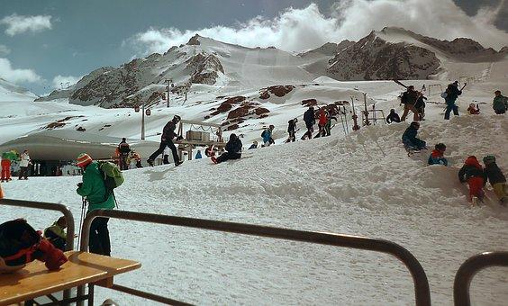 Ski, Hiver, Montagnes, Les Alpes, Neige