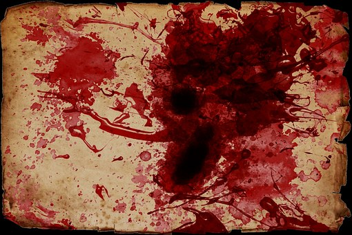 Blood Spatter, Blood, Scroll, Grunge