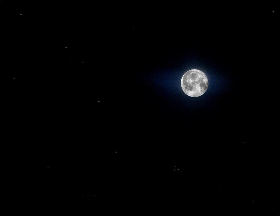 Favori Photo gratuite: Lune, Étoiles, Pleine Lune - Image gratuite sur  LM61