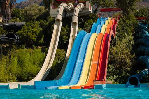 Water Park, Slide, The Sun, Weather