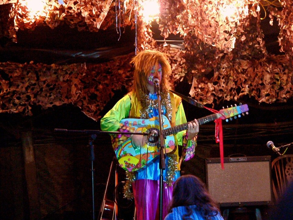 Hippie, Gitaar, Muziek, Vrijheid, Gelukkig, Jong