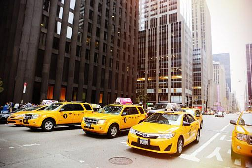 Taxicabs, New York, Taxis, Cabs, Yellow