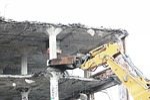 demolish, bulldozer, tearing