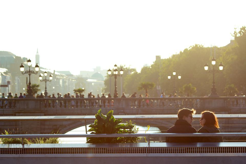 Couple, Love, Two, People, Lovers, City, Urban, Sunset