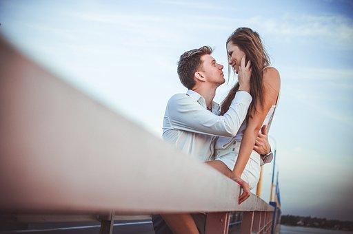 カップル, 愛, 一緒に, 女性, 若いです, 男, ロマンス, 女の子, 人