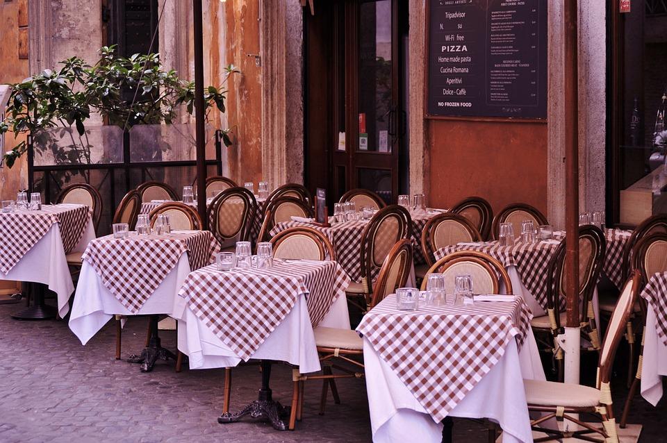 Bistro, Café, Restaurant, Tables, Repas En Plein Air