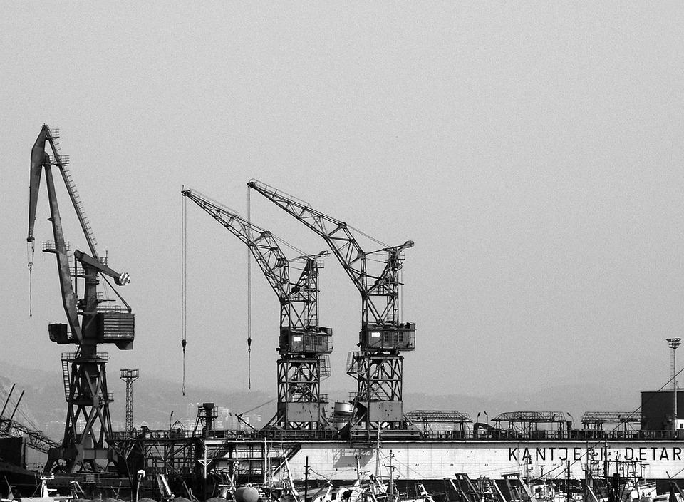 Cranes Construction Site Building