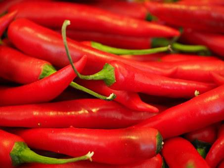Chili, Red, Sharp, Spice, Chili Peppers