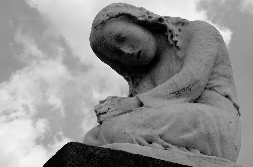 Estatua, Orando, Arrodillada, Nueva Orleans, Cementerio