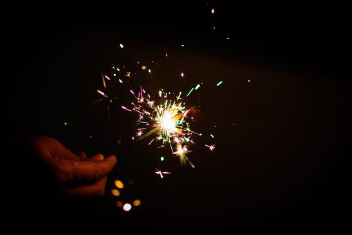 Sparkler, Fireworks, Colors, Diwali