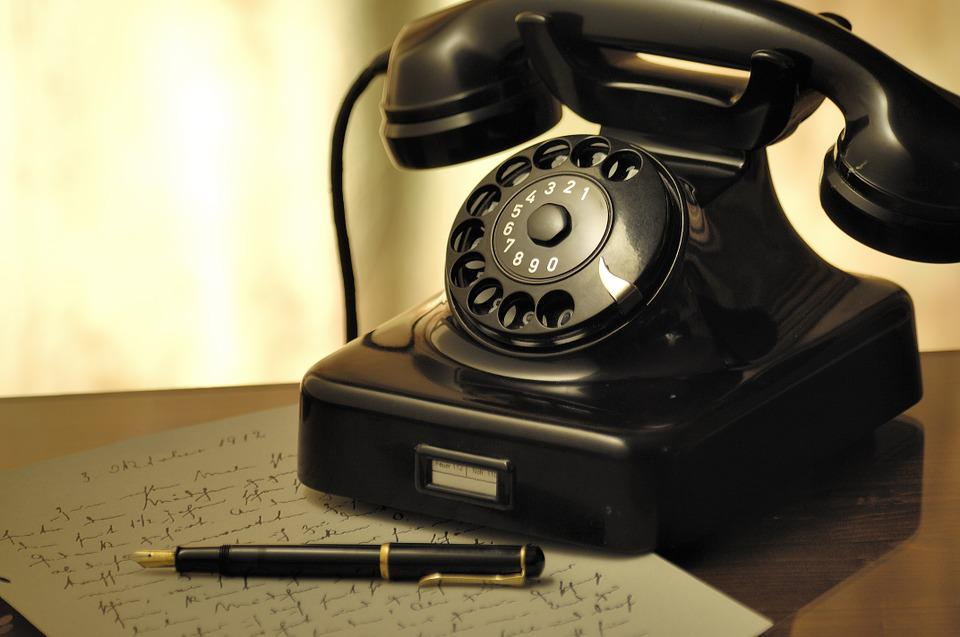 Phone, Letter, Fountain Pen, Dial, Rotary Dial, Retro