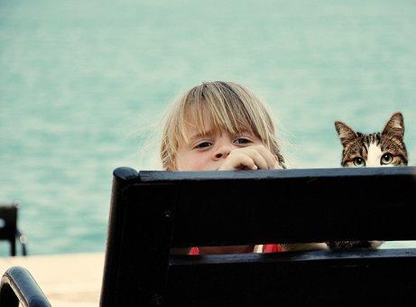 Kids, Boy, Girls, Beach, Hope, Chairs