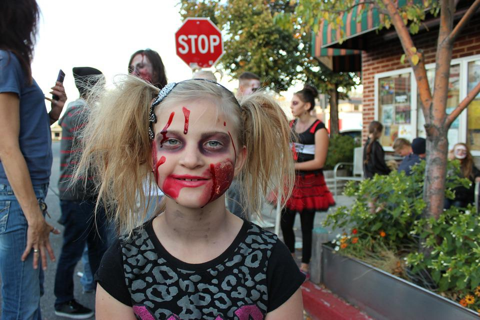 free photo zombie halloween face girl free image on