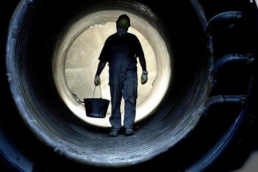 労働者, 生産, 仕事, きつい仕事, 重労働, かき混ぜる, トンネル