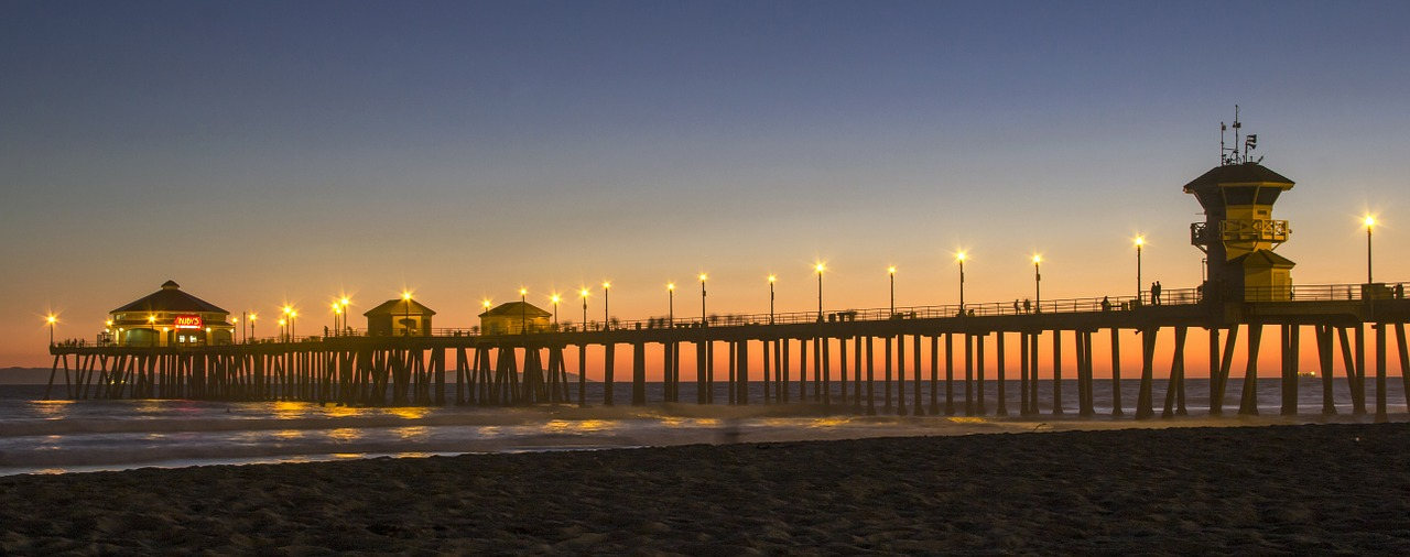 Huntington Beach Jetty Pier Free Photo On Pixabay