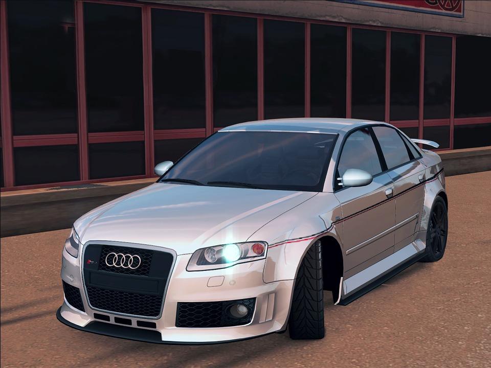Gratis Illustratie Audi Auto A4 Machine Tekening