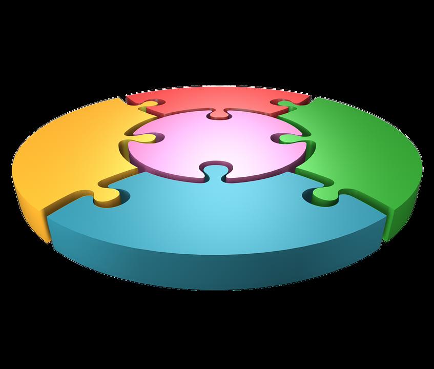 Jigsaw Puzzle Rainbow Wheel 3d Abstract