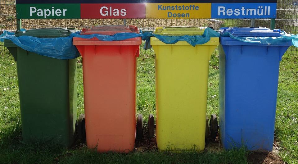 廃棄物分離, Mülltonnen, リサイクル, ごみ, プラスチックのトン, 廃棄, ごみばこ, 青