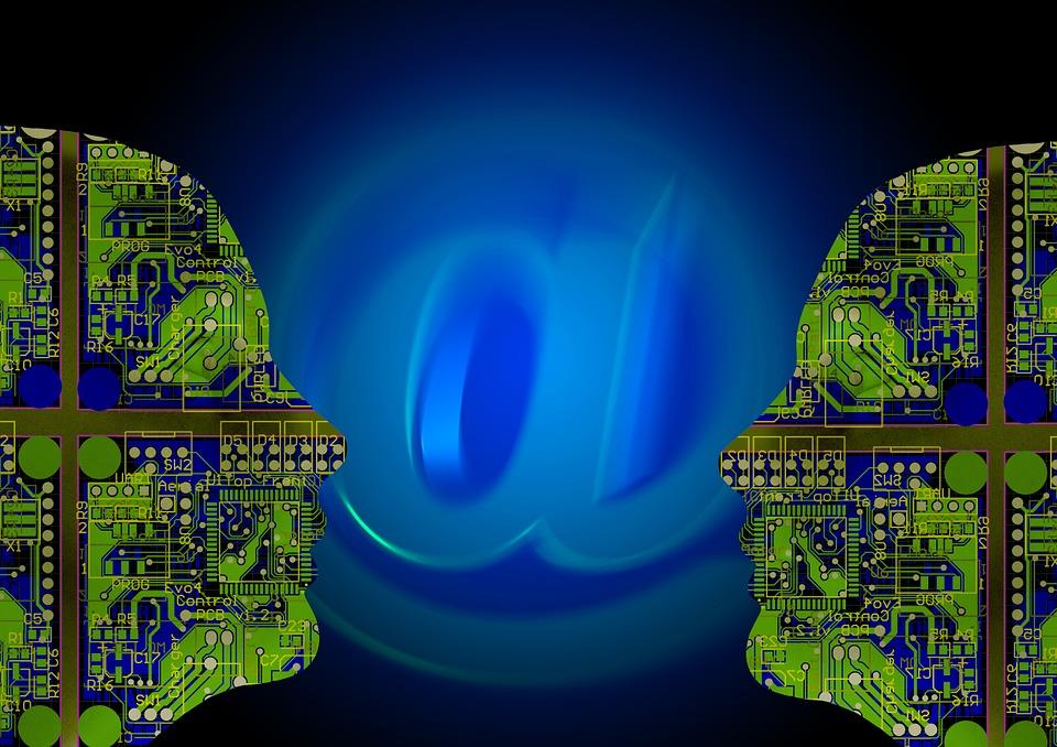電子メール, 通信, 男, 人, インテリジェント, 人工知能, コンピューター科学, 電気工学, 技術