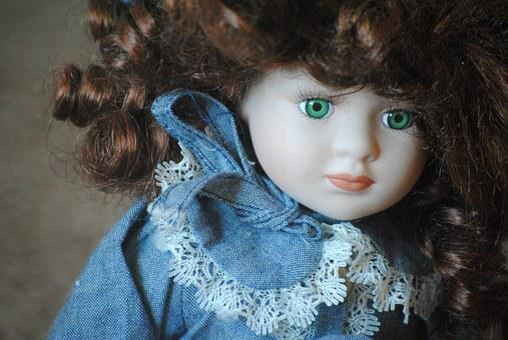 Lalka, Porcelana, Antyczny, Vintage
