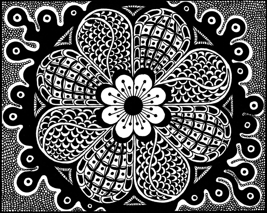 Zentangle Pictures Drawing Black