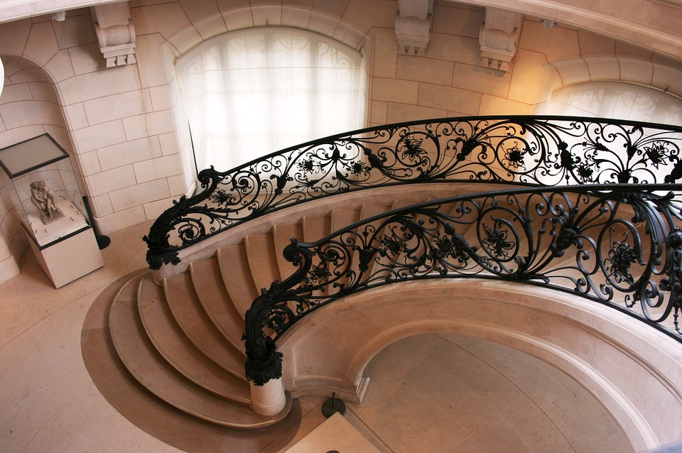 staircase art nouveau petit palais free photo on pixabay