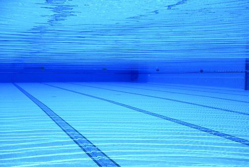 スイミングプール, スイミング プール, 水, 青, プールの, 屋外プール